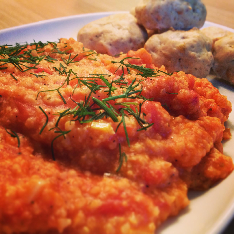 Pan Artur - Kasza jaglana w pomidorach i kulki drobiowe