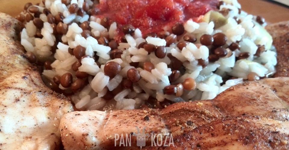 Pan Artur - Soczewica z ryżem i grillowanym kurczakiem