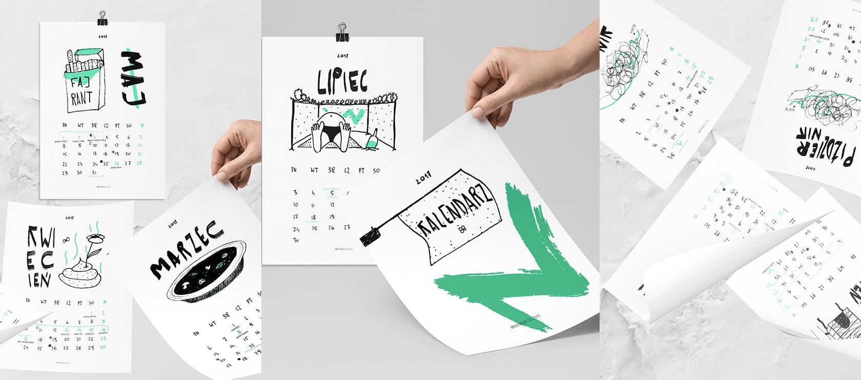 Pan Artur - Wydrukuj sobie kalendarz 2017 za darmo!